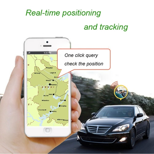 Portable Real-time Spy Car Vehicle Motorcycle GSM GPRS Global Positioning System Monitor Tracker Locator Anti-theft Tracking Geo-fence