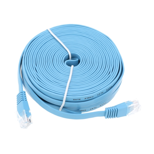 High Quality 15m/49.21ft Blue High Speed Cat6 Ethernet Flat Cable RJ45 Computer LAN Internet Network Cord от Tomtop.com INT