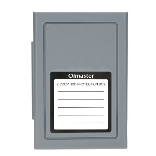 OImaster Shockproof HDD Protector Protection Box Storage Case for 3.5/2.5inch SATA IDE SSD HDD Hard Disk Drive