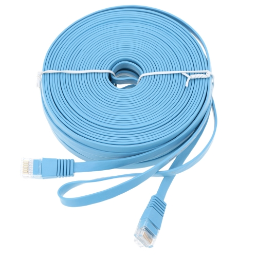 High Quality 25m/82.02ft Blue High Speed Cat6 Ethernet Flat Cable RJ45 Computer LAN Internet Network Cord от Tomtop.com INT