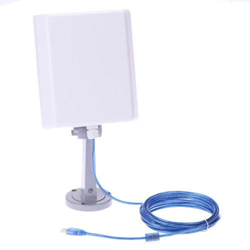 Buy Outdoor 2000MW High Power Long Range 150Mbps USB Wireless N WLAN WiFi Adapter Signal Booster 16dBi Gain Antenna 5m Cable 802.11b/g/n