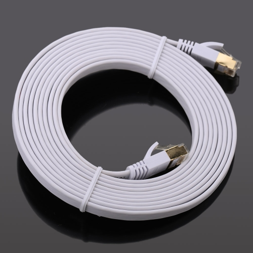 High-quality 15.0m High-speed Cat7 SSTP RJ45 Network LAN Cable Internet Flat Network Cable от Tomtop.com INT