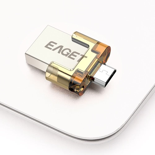 Buy EAGET V8 16GB Ultra Mini Pull Push CapEncryption Metal Tablet PC USB Flash Drive USB2.0 OTG Smartphone Pen Micro Portable Storage Memory