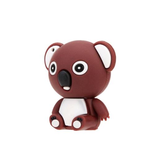 Buy Cute Toy Bear Shaped USB 2.0 Flash Storage Drive Mini Cartoon Animal U Disk Creative Memory Stick Popular Thumb Pen Keyhole
