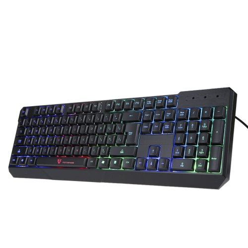 MotoSpeed K70 104 Gaming LED Colorful Backlit Keyboard,limited offer $14.99