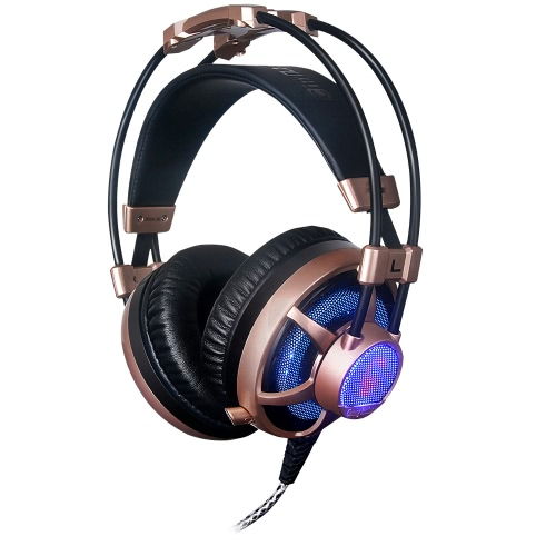 Buy Professional Esport Gaming Stereo Music Headset Headphone Over-ear USB 3.5mm Wired Telescopic Microphone Mic LED Light Mac Laptop PC Computer