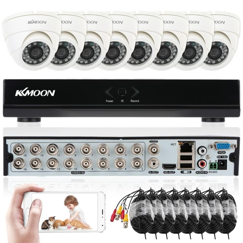 Buy KKmoon 16ch Channel Full 960H/D1 800TVL CCTV Surveillance DVR Security System P2P Cloud Onvif Network Digital Video Recorder + 8*Indoor Camera 8*60ft Cable