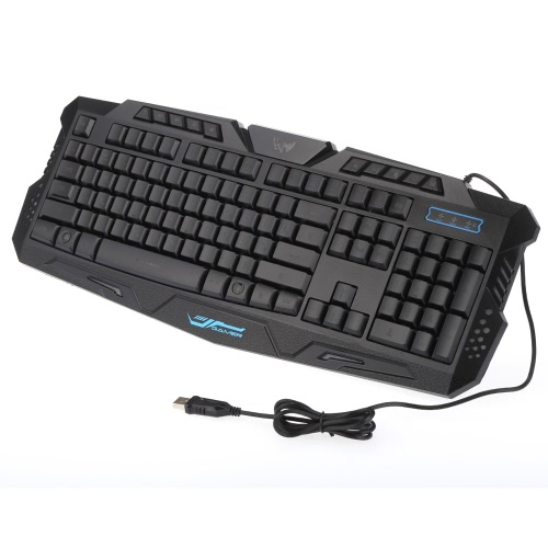 Buy KKmoon Russian Version Wired LED Adjustable 3 Colors Backlit Backlight Gaming Keyboard Win7/8/Vista/XP/OSX