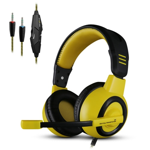 Ovann X6 Professional Esport Gaming Stereo Bass Headset Headphone Earphone Over Ear 3.5mm Wired with Microphone for PC Computer Laptop