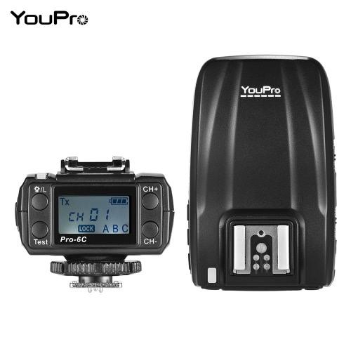 YouPro Pro-6C 2.4G Wireless E-TTL 1/8000S HSS Flash Trigger for Canon EOS Rebel DSLR Camera