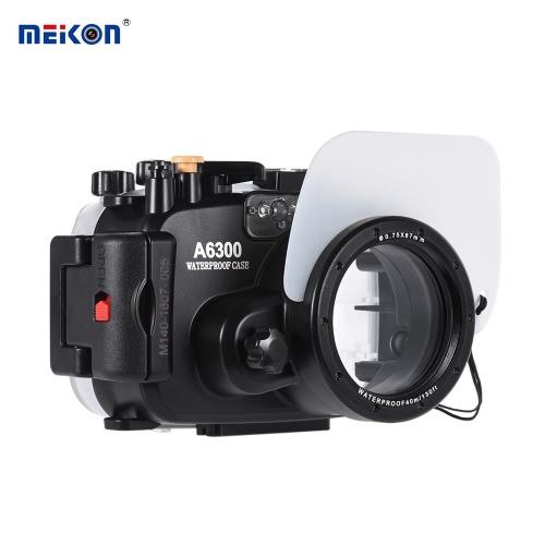 Buy MEIKON SY-22 40m / 130ft Underwater Waterproof Camera Housing Black Case Sony A6300