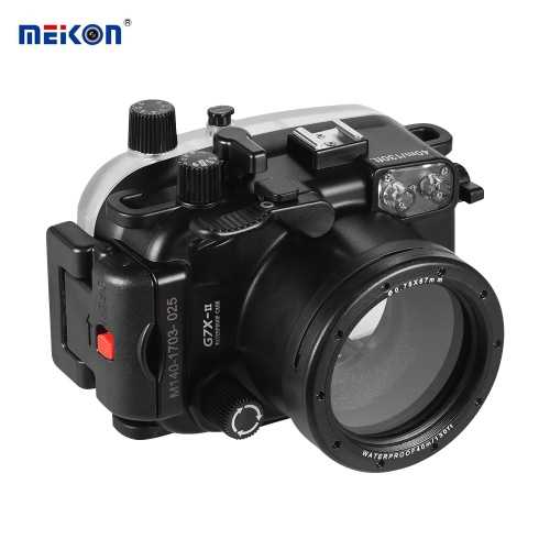 MEIKON Waterproof Camera Diving Housing Protective Case Cover Underwater 40m/ 130ft for Canon G7X Mark II от Tomtop.com INT