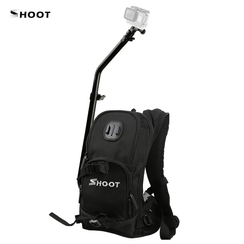 SHOOT Sports Camera Selfie Photography Backpack Bag with Mounting Bracket Adapter for GoPro 5/4/3+/3 for XiaoYi SJCAM Action Cameras for Outdoor Skiing Cycling Motorcycling Shooting от Tomtop.com INT