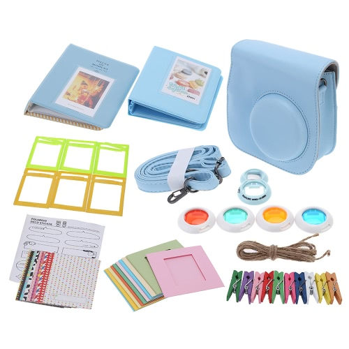 Buy 7 1 Instant Film Camera Accessories Bundles Fujifilm Instax Mini8 Case/Photo Album/Close-Up Selfie Lens/Colors Close-Up Lens/Wall Hang Frames/Photos Frame/Stickers Cute Kids Friends Gift