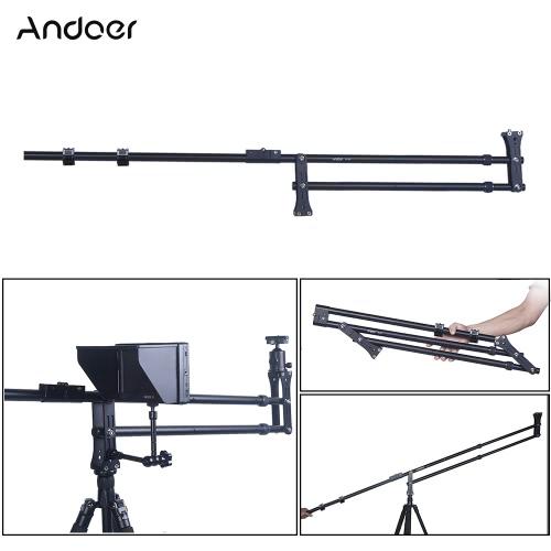 Buy Andoer VS-200 6.4ft Foldable Extendable Compact Mini DSLR Camera Video DV Photography Crane Jib Arm Nikon Canon Sony Olympus Pentax Max.Load Capacity 5kg / 11Lbs