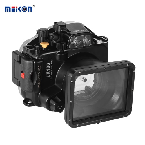 MEIKON Waterproof Camera Diving Housing Protective Case Cover Underwater 40m/ 130ft for Panasonic Lumix LX100 от Tomtop.com INT