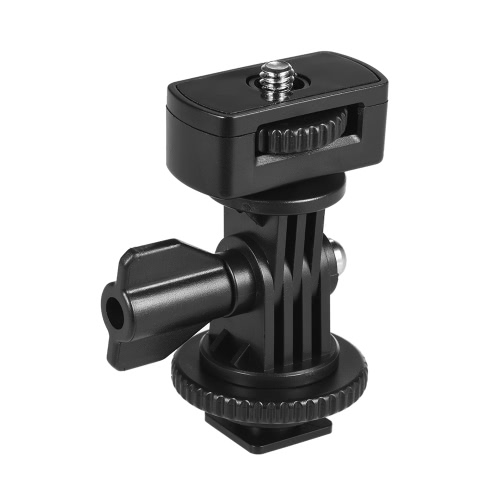 """Universal Adjustable Cold Hot Shoe Mount Adapter with 1/4"""" Screw for Viltrox and other Brands LED Light Video Monitor от Tomtop.com INT"""