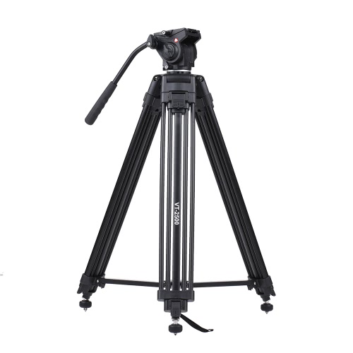 Kingjoy VT-2500 152cm/5ft Camera Camcorder Tripod 360u00b0 Fluid Damping Head/ Stable Middle Support/ Nail Foot Mg-Al Alloy Max. Load 8kg/18Lbs Carry Bag Canon Nikon Sony DSLR ILDC