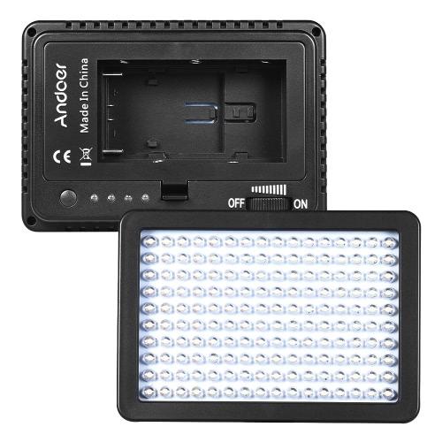 Buy Andoer 160 LED Video Camera Light Lamp 10.5W Dimmable 5600K 4600mAh F750 Battery/Charger/3 Filter/Adapter/Padded Bag Canon Nikon Sony DSLR Studio Photo Figure Portrait Lighting