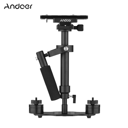 Andoer S40 Professional 40cm Aluminum Alloy Handheld Stabilizer with Quick Release Plate and Clamp Base for Canon Nikon Sony DSLR Cameras Lightweight Camcorders Max Load 2kg от Tomtop.com INT