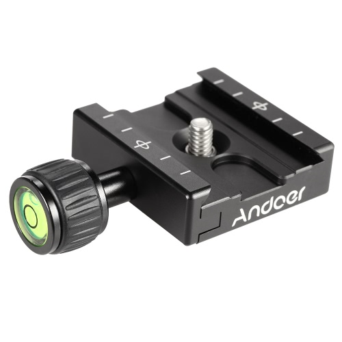 Buy Andoer QR-50 Quick Release Plate Clamp Adapter Built-in Bubble Level Arca Swiss RRS Wimberley Tripod Ball Head