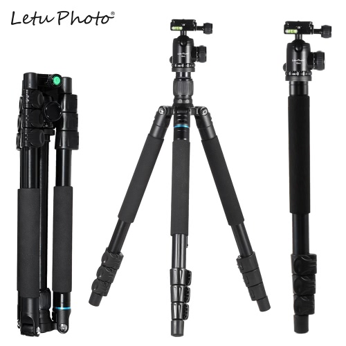 Buy Letu Photo Foldable Portable Extendable Lever-Lock Leg Aluminium Alloy Tripod Unipod Monopod Ball Head Canon Nikon Sony DSLR Camera