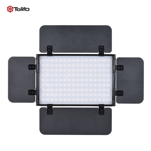 Buy Tolifo PT-15B PRO II 15W LED Panel Light Dimmable Bi-color 3200K - 5600K Ultra-thin Aluminum Alloy On-Camera Lamp 4-Leaf Barn Door LCD Screen Support 2.4G Wireless Remote Control Canon Nikon Sony DSLR Camera Camcorder Video Studio Photography