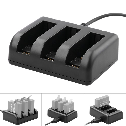 Powerful Triple Battery Charger with USB Charge Cable for GoPro Hero 4 and Hero 5 AHDBT-401 AHDBT-501 от Tomtop.com INT