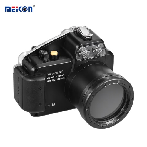 MEIKON Camera Waterproof Diving Housing Protective Case Cover Underwater 40m/ 130ft for Sony NEX-5(18-55MM) от Tomtop.com INT