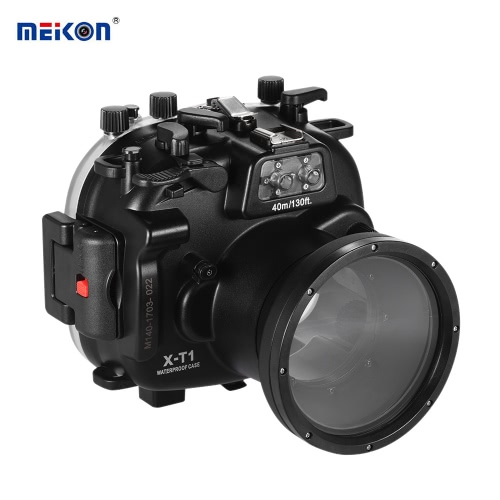 MEIKON Waterproof Camera Diving Housing Protective Case Cover Underwater 40m/ 130ft for Fujifilm Fuji X-T1 от Tomtop.com INT