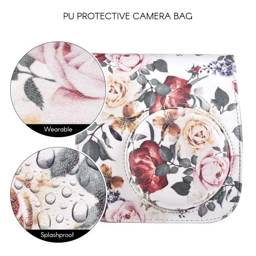 Buy PU Protective Instant Camera Case Bag Pouch Protector Strap Fujifilm Instax Mini 8+/8s/8/9