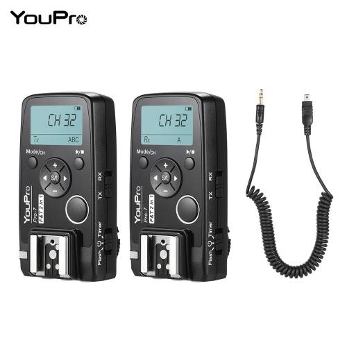 YouPro Pro-6N 2.4G Wireless i-TTL 1/8000S HSS Flash Trigger Transmitter Receiver for Nikon D750 D810 D7200 D610 D7000 D5500 D5200 D5300 D3300 D3200 DSLR Camera