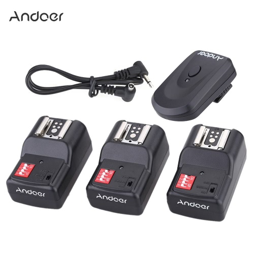 Buy Andoer 16 Channel Wireless Remote Flash Trigger Set 1 Transmitter + 3 Receivers Sync Cord Canon Nikon Pentax Olympus Sigma Sunpak Vivitar Neewer YOUNGNUO Speedlite