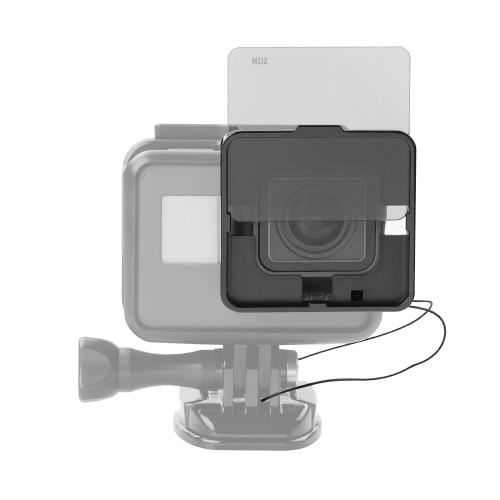 Square ND Lens Filter Protector Kit Set (ND2/ND4/ND8/ND16) for GoPro Hero 5 Naked Camera w/ Mounting Frame Holder от Tomtop.com INT