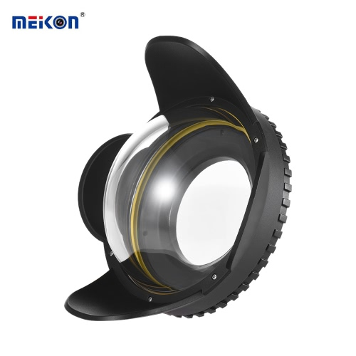 MEIKON Underwater Camera 200mm Fisheye Wide Angle Lens Dome Port Case Shade Cover 60m/ 197ft Waterproof 67mm Round Adapter for Camera Diving Housing от Tomtop.com INT