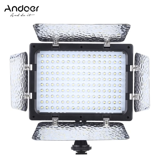 Buy Andoer W160 Video Photography Light Lamp Panel 6000K 160 LEDs Canon Nikon Pentax Sony (Alpha) Olympus Fujifilm DSLR Camera DV Camcorder