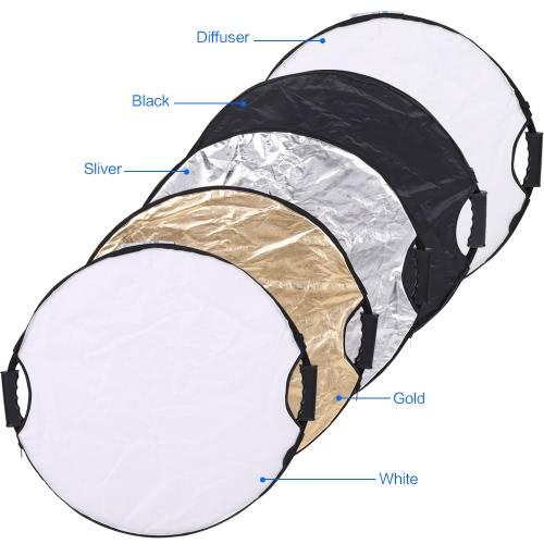 Buy Andoer 110cm 5in1 Round Collapasible Multi-Disc Portable Circular Photo Photography Studio Video Light Reflector
