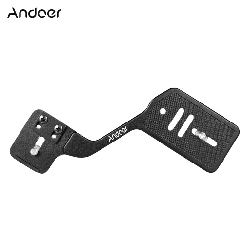 "Andoer Universal Aluminum Bracket Mount Holder for Camera Speedlite Flash Light with 1/4"" Screw for Canon Nikon Sony DSLR Cameras от Tomtop.com INT"