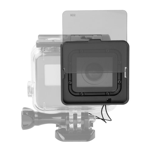 Square ND Lens Filter Protector Kit Set (ND2/ND4/ND8/ND16) with Mounting Frame Holder for GoPro Hero 5 Camera Used with Waterproof Housing only от Tomtop.com INT