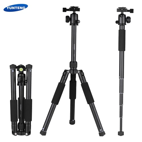 Buy YUNTENG VCT-190 Professional Portable Aluminum Camera Tripod Also Monopod Ball Head 5 Sections Max. Load 2.5kg Canon Nikon Sony DSLR ILDC Camcorder DV