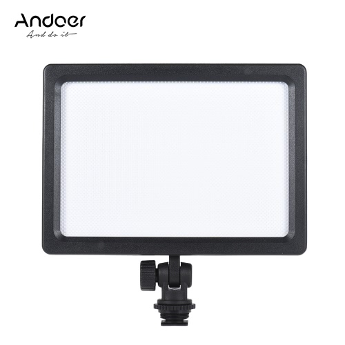 Andoer CM-180D 12W Dimmable Bi-color  3200K - 5600K LED Video Light Panel Lamp w/ LCD Display for Canon Nikon Sony DSLR ILDC Camera Camcorder for Children Kid Baby Wedding Interview Photogrpahy от Tomtop.com INT