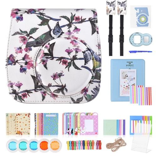 Buy 13 1 Accessories Kit Fujifilm Instax Mini 8/8+/8s/9 Include Camera Case/Strap/Sticker/Selfie Lens/Colored Filter/Album/Photo Frame/Border Sticker/ Corner Sticker/Pen