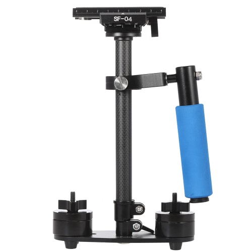 Buy Carbon Fiber Mini Handheld Handle Grip Video Camera Stabilizer Quick Release Plate Canon Nikon Sony Pentax DSLR Camcorder DV