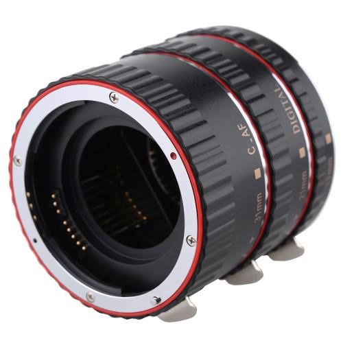 Buy Macro Automatic Auto Focus AF Electronic TTL Extension Adapter Tube Set (13mm 21mm 31mm ) Shots Photography Canon EOS EF EF-S Lens 760D 750D 700D 650D 550D Rebel T2i T3i T4i T5i 5D3 5DR 5DRS 70D 7D2 60D 5D2