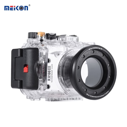 Buy MEIKON SY-15 40m / 130ft Underwater Waterproof Camera Housing Transparent Case Sony RX100 III