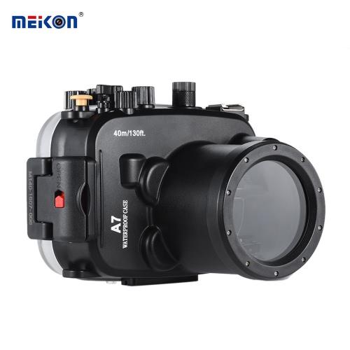Buy MEIKON SY-14 40m / 130ft Underwater Waterproof Camera Housing Black Case Sony A7 A7R