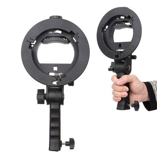 S-shaped Handheld Grip Portable Bowens Mount Speedlight Bracket for Flashlight Softbox Support Reflective Umbrella and other Photography Studio Accessories от Tomtop.com INT