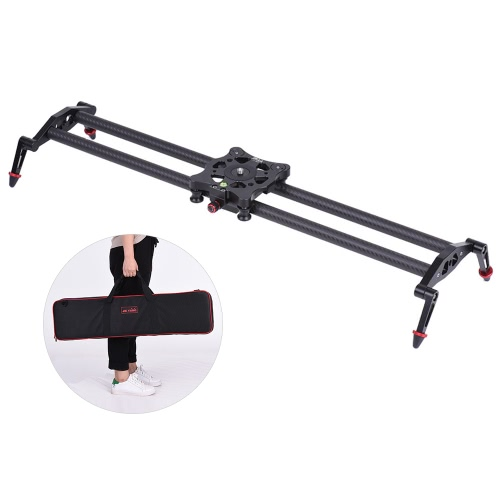 Buy 80cm/2.6ft Carbon Fiber Track Dolly Slider Rail Stabilization System 5kg/11.0lbs Load Capacity Video Movie Film Shooting Canon Nikon Sony DSLR Cameras Camcorders