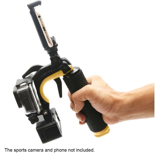 Shutter Trigger Floating Hand Grip Handle Mount with LED Fill-in Light for Gopro Hero 4 / 3+ / 3 Action Sports Camera Smartphone от Tomtop.com INT