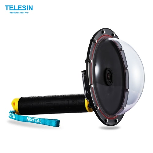 TELESIN Upgrade Advanced Aluminum Alloy Dome Port Accessory for Gopro Hero 4 / 3+/ 3 Diving Camera Sports Action Cam Underwater Photography Waterproof 30M with Floaty Grip от Tomtop.com INT